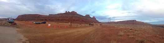 Teeny-tiny eyeview of where the run started.