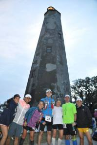 Photo-ops before the race right infront of Old Baldy.